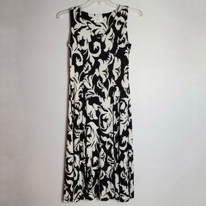Dressbarn Floral Print Sleeveless Dress
